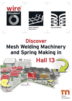 Mesh Welding Machinery and Spring Making have moved to Hall 13